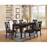 Sonata 7Pc Pk Dining Set in Espresso & Espresso PU - Acme Furniture 71955