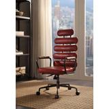 Calan Executive Office Chair in Vintage Red Leather - Acme Furniture 92109