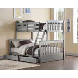 Haley II Bunk Bed (Twin/Full) in Gray - Acme Furniture 37755