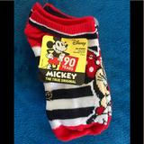 Disney Accessories   5 Pairs Of Disney Mickey Mouse No Show Socks.   Color: Black/Red   Size: 6-8.5shoe Size 7.5-3.5