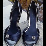 Nine West Shoes   Nine Wst Satin Formal Heels W Rhinestone Accent   Color: Blue   Size: 8