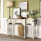 "Birch Lane™ Piedmont 64"" Console Table Wood in Brown/White, Size 34.0 H x 64.0 W x 14.0 D in   Wayfair 9CE680DC14AA497FA4E0A04F8169C75C"
