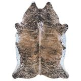 Union Rustic Richart Brown/Black Area Rug Polyester in Gray, Size 60.0 H x 46.0 W x 0.08 D in | Wayfair 7976C9A6AE254A839973AE797F43232B