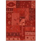 """World Menagerie One-of-a-Kind Prem Hand-Knotted Moroccan 5'3"""" x 7'5"""" Wool Area Rug Wool in Red, Size 89.0 H x 63.0 W in 