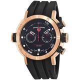 Aqua Diver Chronograph Black Dial Watch -bb - Pink - Swiss Legend Watches
