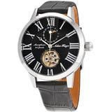 Ak2269 Automatic Black Dial Watch -bk - Black - Adee Kaye Watches