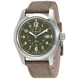 Khaki Field Olive Green Dial Automatic Mens Watch - Green - Hamilton Watches