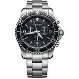 Swiss Army Maverick Chronograph Mens Watch - Metallic - Victorinox Watches