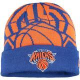 Youth New Era Blue York Knicks Logo Whiz Cuffed Knit Hat