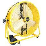 "Stanley Direct Drive Cradle Drum Tiltable 24"" Blower Fan in Yellow, Size 10.5 H x 30.5 W x 32.0 D in   Wayfair ST-24DCT"