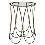 Everly Quinn Popham End Table Glass/Metal in Yellow, Size 22.0 H x 15.55 W x 15.55 D in   Wayfair 6DA4EF67B4F641C3A5329327C72671AF
