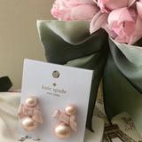 Kate Spade Jewelry | Kate Spade Pretty Pearly Bow Stud Earrings | Color: Gold | Size: Os