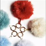 Free People Accessories | Free People Keychain Faux Fur Pom Pom Red | Color: Red | Size: Os