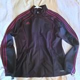 Adidas Jackets & Coats | Adidas Women Climacool Track Jacket 3 Stripes Sz M | Color: Black | Size: M