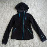 Athleta Jackets & Coats | Athleta Dolomite Rain Jacket | Color: Black/Blue | Size: Xxs