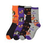 TeeHee Kids Girls' Socks Multicolor - Orange 'Trick or Treat' Puppy In My Pocket Four-Pair Crew Socks - Kids