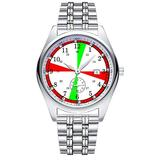 Casual Simple New Style Stainless Steel Strap Waterproof Wristwatch Ship's Radio Room Clock Dial Analog Quartz Watch Date & Second Hands dial