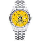 Casual Simple New Style Stainless Steel Strap Waterproof Wristwatch Gadsden Don't Tread On Me Flag Watches Dial Analog Quartz Watch Date & Second Hands dial