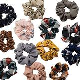 QAPPDA Mix Color Hair Scrunchies,Chiffon Flower Hair Bubble Elastic Hair Bands For Women,Hair Scrunchy Headbands Ponttail Holder Chiffon Hair Ties For Girls 20 Pack.