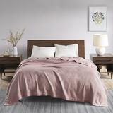 Madison Park Twin Blanket in Rose - Olliix MP51N-6363