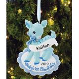 Personalized Planet Men's Ornaments - Blue Deer 'Baby's First Christmas' Personalized Ornament