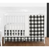 Sweet Jojo Designs 4 Piece Crib Bedding SetCotton in White/Black | Wayfair BuffaloCheck-BK-WH-Crib-4