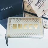 Gucci Bags | Like New Auth Gucci Guccy Sega Logo Wallet | Color: Cream/Gold | Size: Os