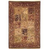 World Menagerie Hugues Oriental Handmade Tufted Wool Burgundy Area Rug Wool in Red, Size 96.0 H x 96.0 W x 0.3 D in   Wayfair T059MTBR5.6X5.6RND