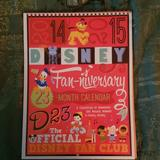 Disney Office | 2014-15 D23 Fan-Niversary 23 Month Calendar | Color: Red | Size: Os