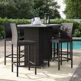 Sol 72 Outdoor™ Fernando 8 Piece Bar Height Dining Set Metal, Size 41.5 H x 35.5 W x 35.5 D in   Wayfair 1C34DAF1005A4F5985EC1D8C11006D41