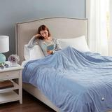 Beautyrest Electric Heated Channel Blanket, King, Light Cream