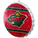 Minnesota Wild Distressed Logo Bottle Cap Sign