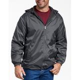 Dickies Men's Big & Tall Fleece Lined Hooded Nylon Jacket - Charcoal Gray Size 3Xl 3XL (33237)