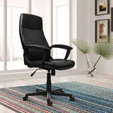 Winston Porter Odoms Executive Chair Upholstered in Black, Size 43.5 H x 25.0 D in | Wayfair RTA-4907
