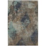 Orren Ellis Towanna Dark Linen Area Rug in Blue/Brown, Size 132.0 H x 96.0 W x 0.39 D in   Wayfair 91013 50137 096132
