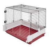 Tucker Murphy Pet™ Petrella Extension Rabbit Cage Metal in Black/Red/White, Size 19.68 H x 23.62 W x 47.24 D in | Wayfair 158WEX