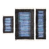 "World Menagerie Ricardo 3 Piece Set Area Rug 36""X60""/22""X60""/21""X34"" Cotton in Blue, Size 60.0 H x 36.0 W x 0.5 D in   Wayfair"