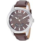 ESQ Men's Stainless Steel Watch w/ Brown Leather Strap FE/0081
