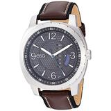 ESQ Men's Stainless Steel Watch w/ Brown Leather Strap FE/0110