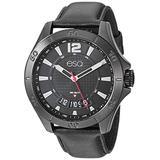 ESQ Men's Stainless Steel Black IP Watch w/ Leather Strap FE/0180