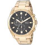 ESQ Men's Gold IP Stainless Steel Chronograph Bracelet Watch FE/0131