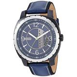 ESQ Men's Stainless Steel Watch w/ Blue Leather Strap FE/0112