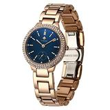 WWOOR Women's Watch Original Fashion Diamond Watch Dress Party Analog Quartz Watches with Stainless Steel Waterproof Wristwatch Casual Watch Ladies