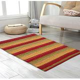 Cotton Rag Rugs 2x3'- Red Combo in Diamond Weave Stripe,Cotton Area Rugs,Indoor Out Door Rugs 2'x3',Rugs for Living Room, Machine Washable Rugs,Hand Woven & Kitchen Entryway Rug,Farmhouse Rug.