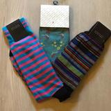 Urban Outfitters Underwear & Socks | Barney'S New York Casual Socks Bundle | Color: Green/Pink | Size: L
