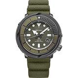 Seiko Solar Diver SNE535 Mens Camo Green Silicone Rubber Band Chronograph Camo Green Quartz Dial Watch