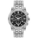 Men's Citizen Eco-Drive Corso Swarovski Crystal Black Dial Watch AT2450-58E