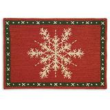 Chandler 4 Corners Artist-Designed Snow Crystal Flake Hand-Hooked Wool Accent Rug (2' x 3')