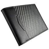 COLDFIRE Tactical Carbon Fiber Wallet with Coin Pocket and ID Window for Men. Handmade EDC Genuine Kangaroo Leather Mens Wallet - Slim Bifold RFID Credit Card Holder. Gift for Him. Handmade in Europe!