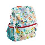 Jungle Animals Tropical Green 12 x 9 Polyester Fabric Children's School Backpack